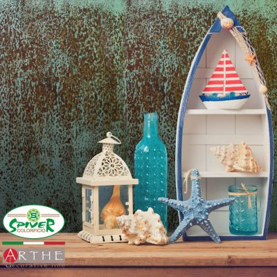 Summer home decor objects on wooden table. Summer interior background